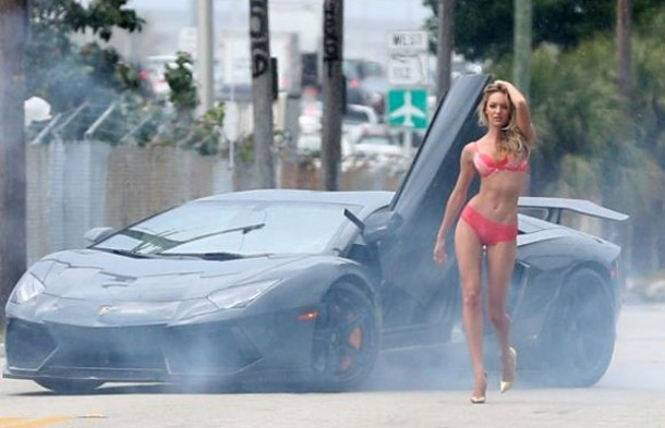 Victoria Secret Commercial with Candice Swanepoel and Lamborghini Aventador by DMC (1)