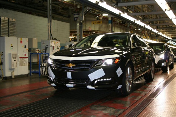 2014 Chevrolet Impala on the assembly line
