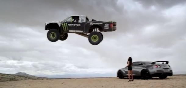 BJ Baldwin trophy truck jump