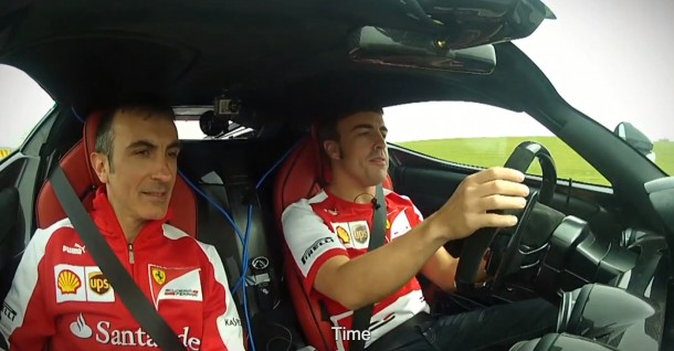 Fernando Alonso tests out the LaFerrari