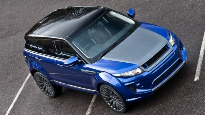Imperial Blue Range Rover Evoque by A.Kahn Design (1)