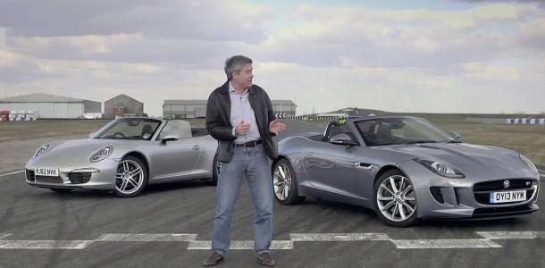 Jaguar F-Type v Porsche 911 Cabriolet- Tiff Track Battle