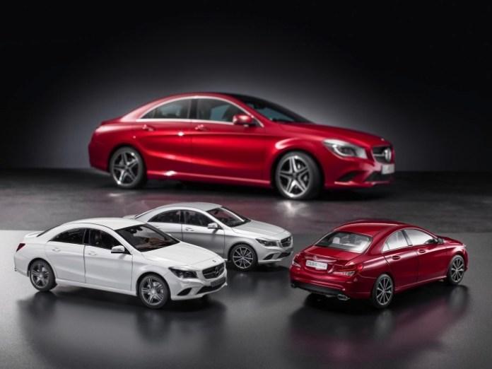 Mercedes-Benz CLA-Class miniatures (2)