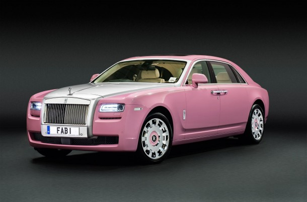 Pink Rolls-Royce Ghost Extended Wheelbase for FAB1 Million and Breast Cancer Car (1)