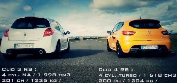 Renault Clio 4 RS VS Clio 3 RS Cup