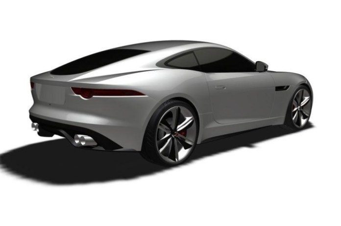 Jaguar F-Type Coupe patent photo