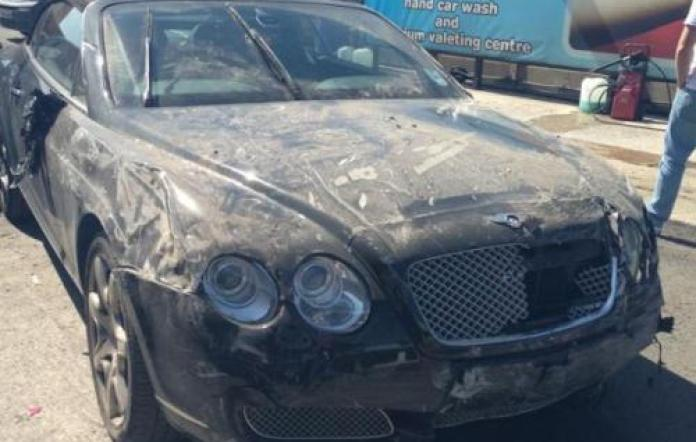 Wrecked Bentley Continental GTC