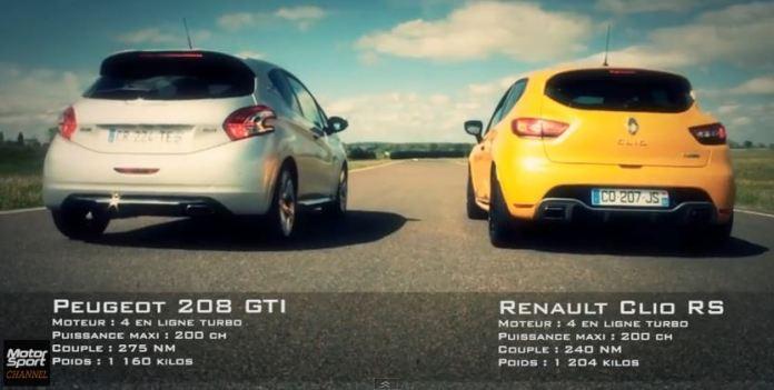 Renault Clio RS VS Peugeot 208 GTi
