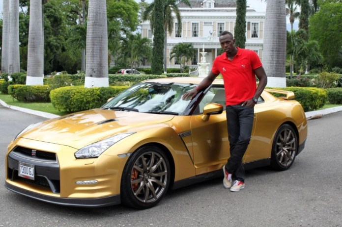 Usain Bol and Nissan GT-R Bolt Spec (2)