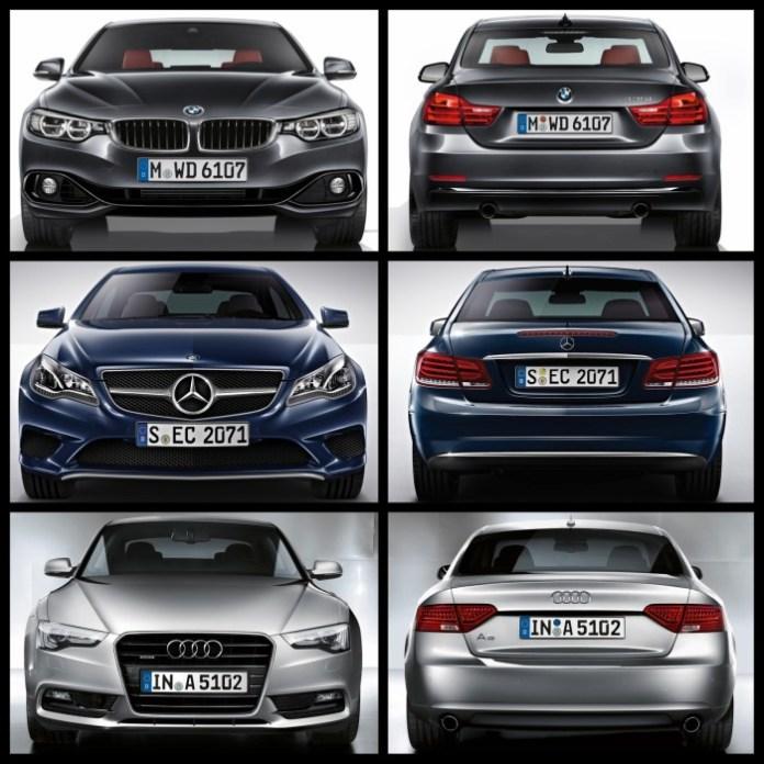 Bild-Vergleich-BMW-4er-Coupe-F32-Mercedes-E-Klasse-Audi-A5-04