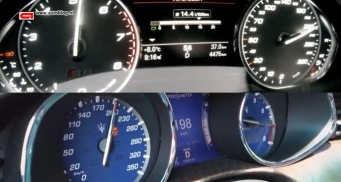 Maserati Quattroporte (2013) vs Audi S8 (2011)