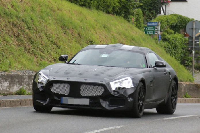 Mercedes SLC spy photos in Nurburgring (2)
