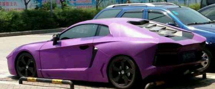 Purple Lamborghini Aventador Replica in China (3)