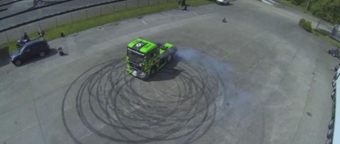 Semi Truck Drift Gymkhana