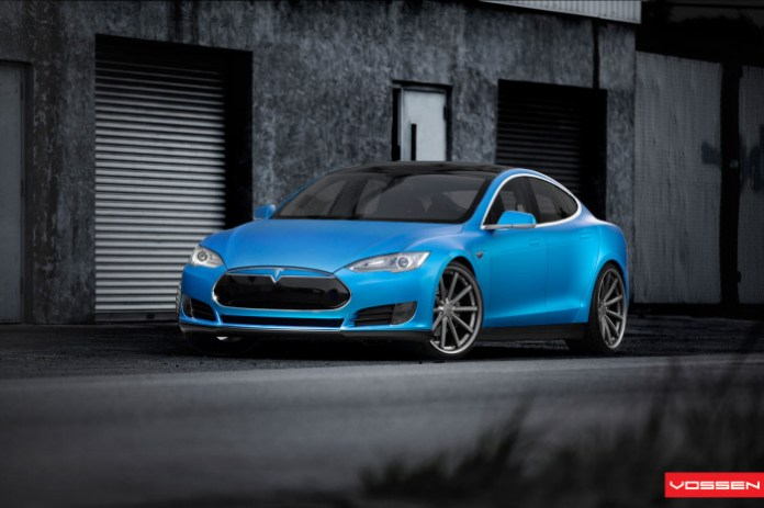 Tesla Model S with Vossen Wheels (1)