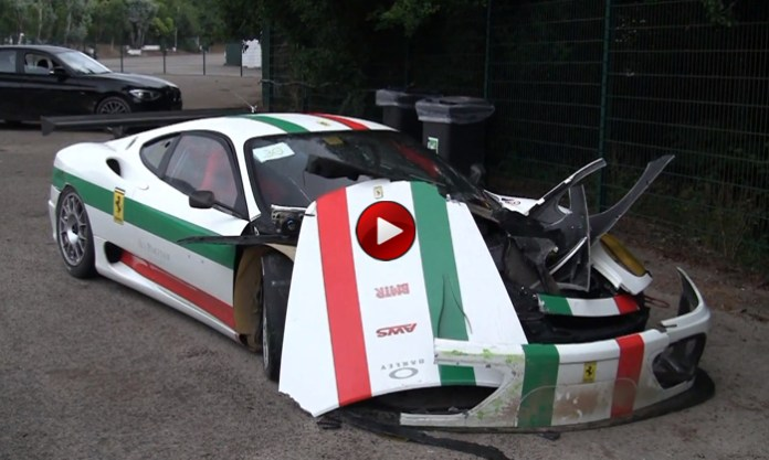 Crashed Ferrari 360 N-GT
