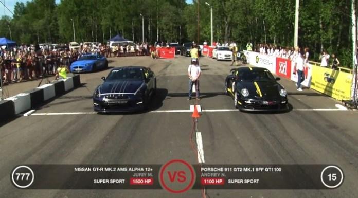 Porsche GT2 9ff vs GT-R AMS Alpha 12
