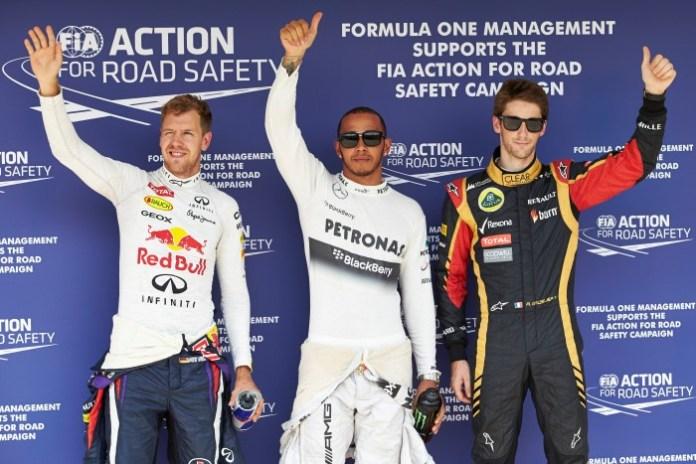 Vettel-Hamilton-Grosjean