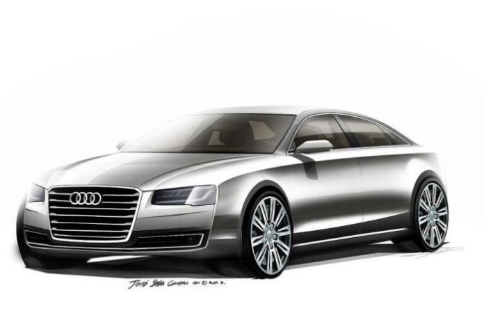 2014 Audi A8 facelift official design sketch