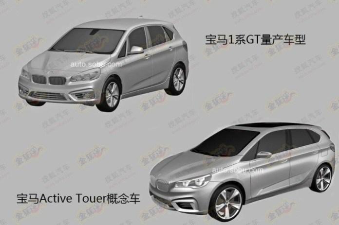 BMW 1-Series GT 2014 patent photos (2)
