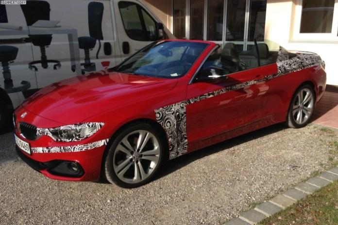 BMW 4-Series Convertible Spy Photos (2)