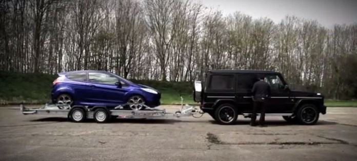 Ford Fiesta ST Vs Mercedes-Benz G63 AMG