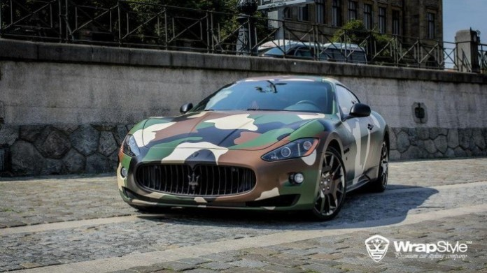 Maserati GranTurismo S camouflage by WrapStyle (1)
