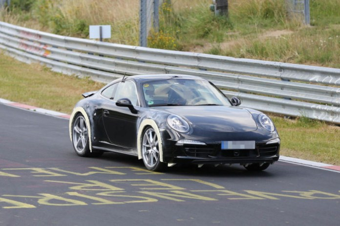 Porsche 911 991 new version spy photo (1)