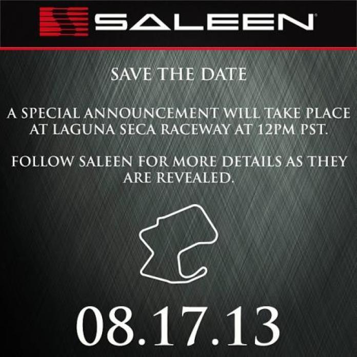 Saleen new model teaser photo