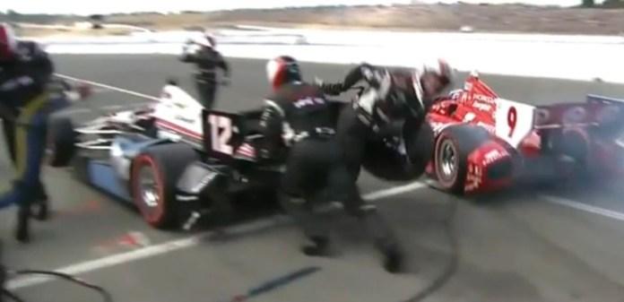 indycar fail pit stop