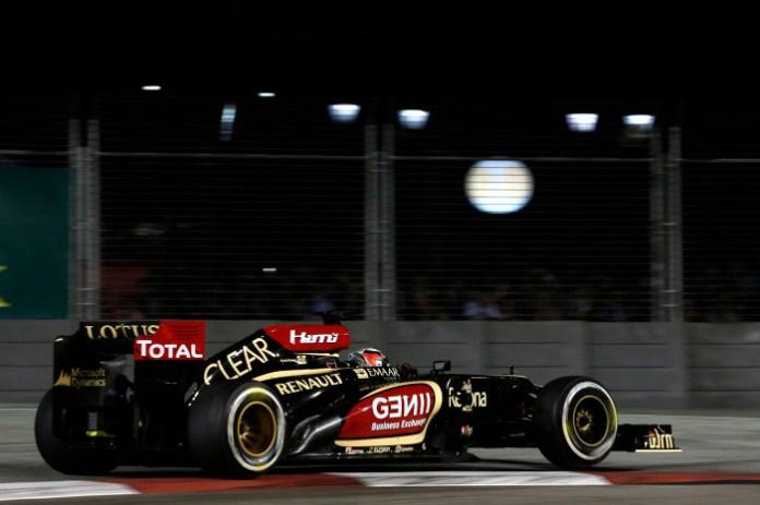 Marina Bay Circuit, Singapore. Friday 20th September 2013. Kimi Raikkonen, Lotus E21 Renault. Photo: Steven Tee/Lotus F1 Team. ref: Digital Image _14P4033