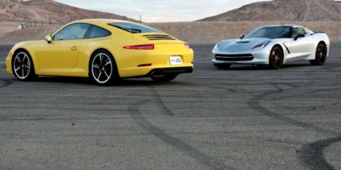 2014 Chevy Corvette Stingray vs 2013 Porsche 911