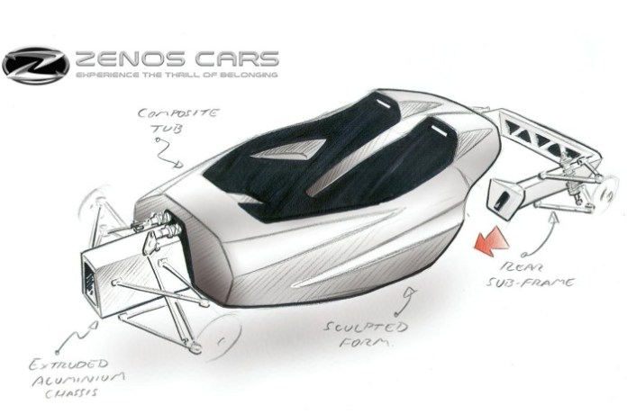 Zenos E10 design sketch (2)