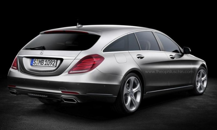 Mercedes S-Class Shooting Brake rendering