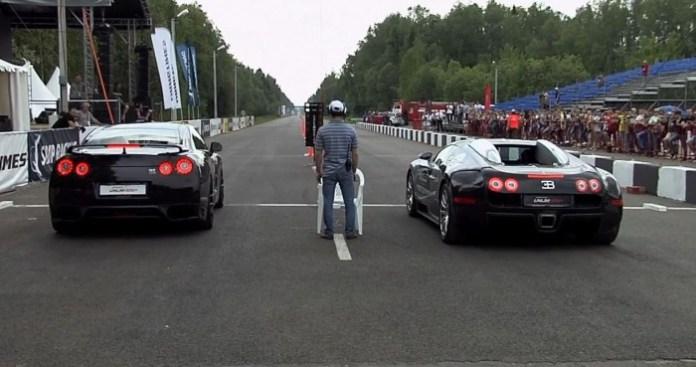 Bugatti Veyron vs Nissan GT-R EkuTec