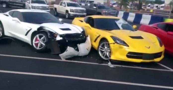 Impala crash two corvette (1)