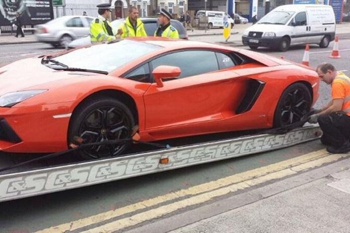 Lamborghini Aventador seized in crackdown (3)