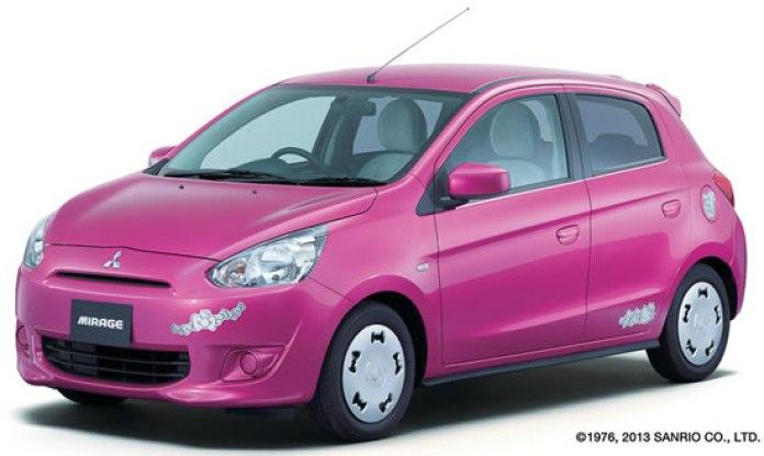Mitsubishi Mirage Hello Kitty special edition (1)