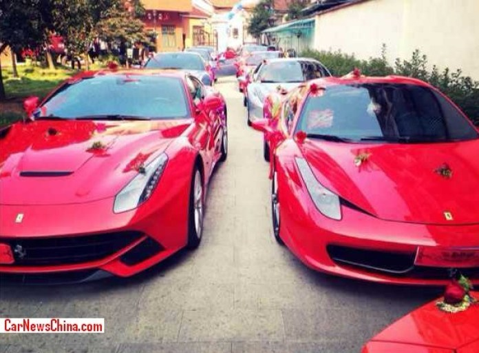 Wedding with supercars on China (3)