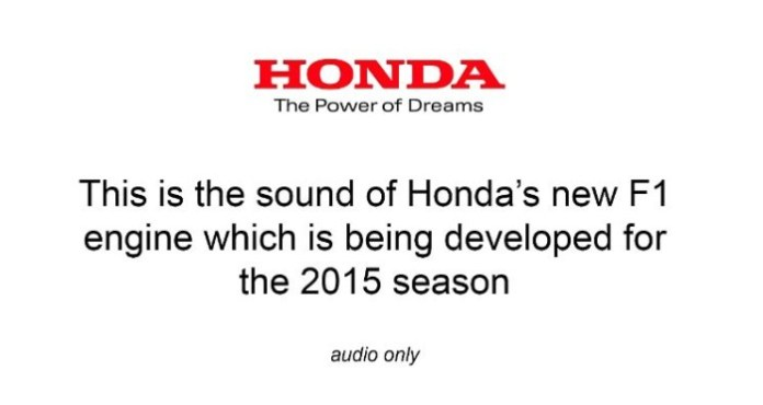 honda f1 engine sound