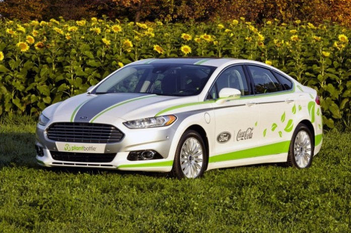 Ford Fusion Energi with Coca-Cola PlantBottle Technology
