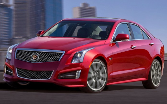 Cadillac-ATS-V-front-three-quarter-in-motion