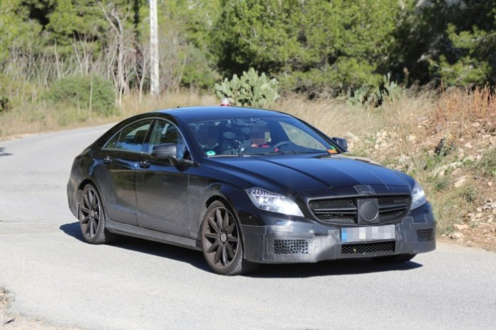 Mercedes-Benz CLS63 AMG facelift 2015 Spy Photos (3)