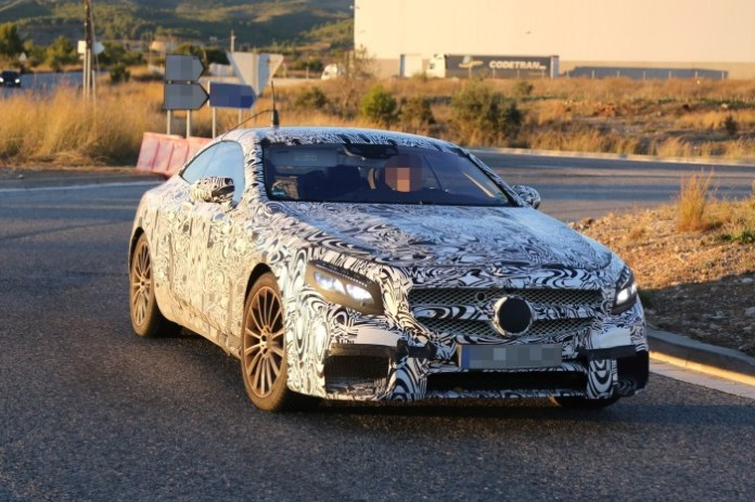 Mercedes-Benz S63 AMG Coupe 2015 Spy Photos (4)