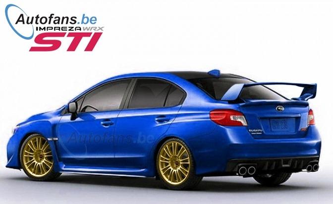 Subaru WRX STI 2014 Rendering (2)