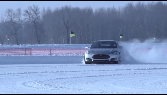 Tesla Model S winter conditions