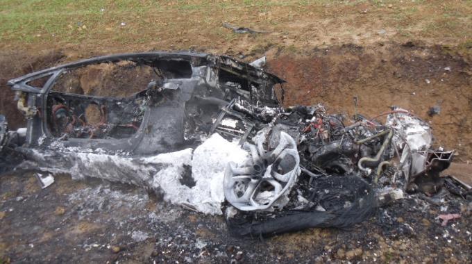 Lamborghini Aventador Burnt