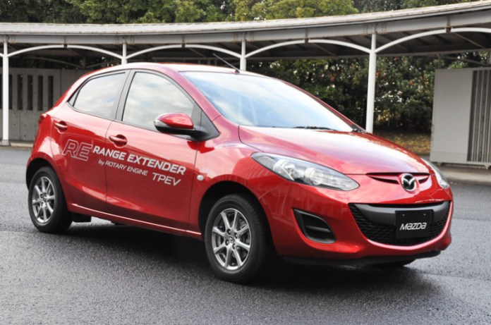 Mazda Demio EV Range Extender with Rotary engine (1)