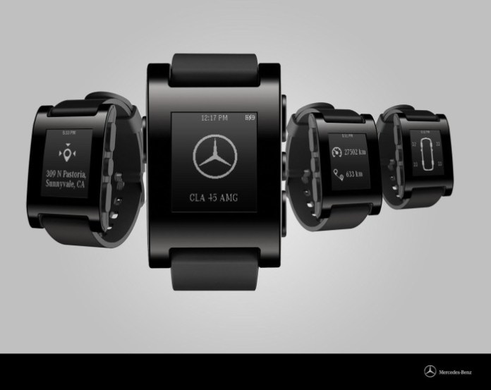 Mercedes-Pebble smartwatch 1