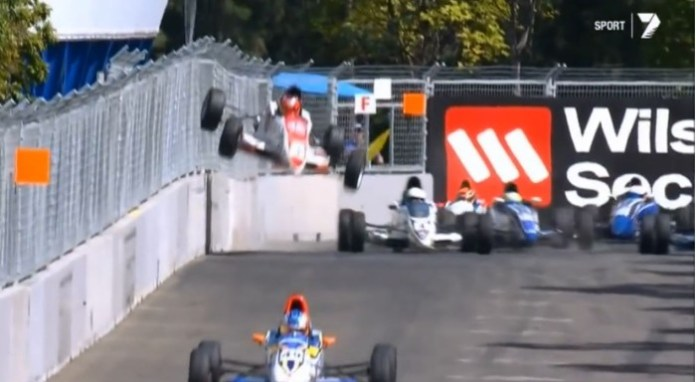 Spectacular Formula Ford Crash - Sydney 2013